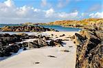 Great Bernera beach, île de Lewis, Western Isles, Écosse, Royaume-Uni, Europe