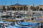 Port Lympia im Quartier du Port, Nizza, Alpes Maritimes, Provence, Cote d ' Azur, Côte d ' Azur, Frankreich, Mediterranean, Europa