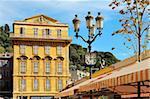 Maison de Henri Matisse, Place Charles-Félix, Cours Saleya marché et un restaurant de quartier, vieille ville, Nice, Alpes Maritimes, Provence, Côte d'Azur, French Riviera, France, Europe