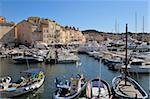 Vieux Port harbour, St. Tropez, Var, Provence, Cote d'Azur, France, Mediterranean, Europe