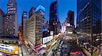 Broadway vers Times Square, Manhattan, New York City, New York, États-Unis d'Amérique, l'Amérique du Nord