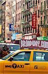 Scène de rue à China Town, Manhattan, New York City, New York, États-Unis d'Amérique, l'Amérique du Nord