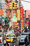Scène de rue typique dans Little Italy, Manhattan, New York City, New York, États-Unis d'Amérique, l'Amérique du Nord