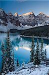 Moraine Lake from the Rockpile, Canada, North America