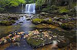 Ddwli haute chute d'eau en été, le Parc National de Brecon Beacons, Powys, pays de Galles, Royaume-Uni, Europe
