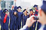 Bild von sich selbst Absolventen jubeln