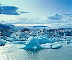 Gletscher auf dem arktischen Wasser schwimmt