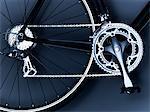 Nahaufnahme von Fahrrad-Kette, Pedal und Zahnräder