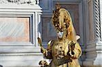 Porträt der Frau im Kostüm im Karneval, Venedig, Italien