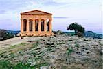 Tempio della Concordia at Dusk, Valley of Temples, Agrigento, Sicily, Italy