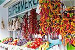 Obst und Gemüse im Supermarkt, Spanien