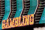 Gambling Sign, Fremont Street, Las Vegas, Nevada, USA