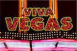 Enseigne au néon, Las Vegas, Nevada, USA
