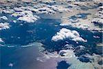 Aerial View of Okinawa Island, Okinawa Prefecture, Japan