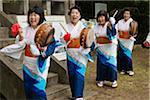 Fête villageoise locale, Site du château de Akakina, Village Akakina, Amami Oshima, îles Amami, préfecture de Kagoshima, Japon