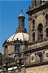 Close-Up of Metropolitan Cathedral, Plaza de la Constitucion, Mexico City, Mexico