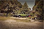 Pickup Truck Parked in Driveway, Fredonia, Utah, USA