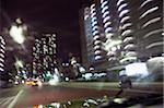 Car journey through Tokyo