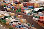 Container im Güterverkehr Hof, hoher Winkel anzeigen