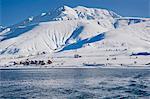 Artos Mountain in snow, Van Province, Turkey