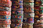 Woven Uzbeki hats, Bukhara, Uzbekistan