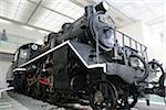 Exhibit of locomotive at Yasukuni Shrine, Yushu-kan, Tokyo, Japan