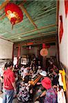 Karte von chinesischen Tee im Teehaus, Hongkeng Dorf, Yongding, Fujian, China