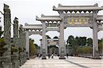 Stone sculpture and gateways at Shi-Keng Court, Chaoshan, China