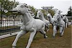 Stone horses sculpture at Shi-Keng Court, Chaoshan, China
