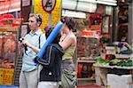 Tourists at Gage Street, Central, Hong Kong