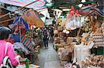 Food market on Graham Street, Central, Hong Kong
