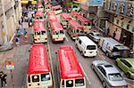 Mini bus terminal sur Tung Choi Street, Mongkok, Hong Kong