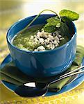 Soupe de concombre et Feta