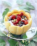 gekühlte Sommer Obst Suppe