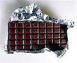 Barre de chocolat avec habillage aluminium