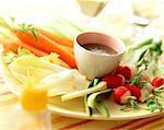 légumes à la sauce anchoyade