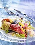 Ragoût de poisson et poireaux