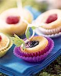 bite-sized pound cake with summer fruit