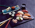 Sushi and futomaki