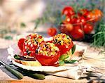 Tomates farcies à la ratatouille