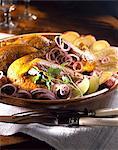 poulet curry grillé mariné