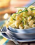 Cavatappi with leeks and sweet onions