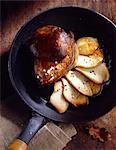 Cep mushrooms and foie gras with artichoke