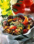 Salade de poivrons et de tomates