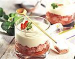 Souris fraise avec des biscuits de Reims