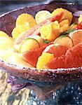 Fruits et fleurs glacés