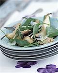 Salade de poires au foie gras