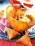 Honig-Briouates, Salat mit orange und Zimt