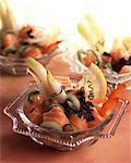 Plat de saumon cru au fenouil