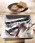 Carpaccio de sardine au miel et au citron